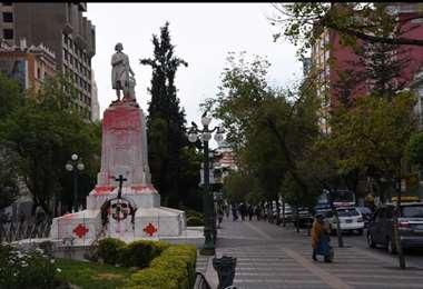 Los ataques a estatuas en La Paz I APG.