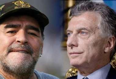 Maradona y Macri. Foto Internet