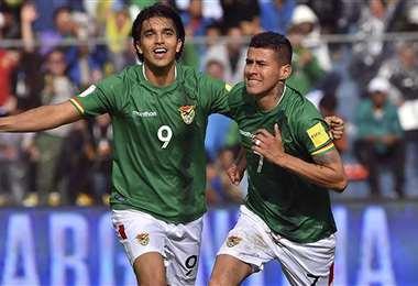 Arce y Martins anotaron los goles para el triunfo de Bolivia en 2017. Foto: APG