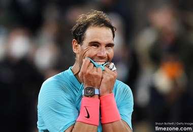 Nadal llamó la atención por usar durante todo el torneo la exclusiva pieza suiza