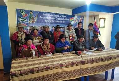 los dirigentes del pacto de unidad anuncian control