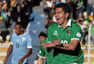 Carlos Saucedo, delantero de la selección. Foto: Internet