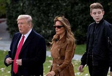 Donald, Melania y Barron Trump. Foto Internet