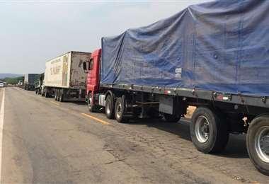 Hay camiones varados en la ruta. Foto: Redes sociales