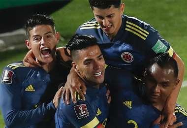 Falcao celebrando el empate. Foto: AFP