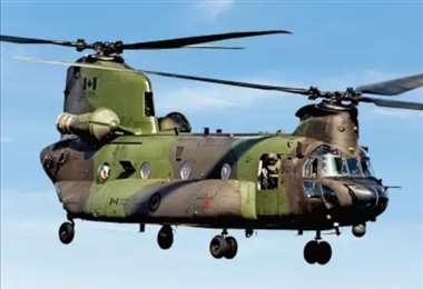Foto referencial de helicóptero Chinook