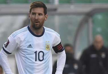 Lionel Messi en el Hernando Siles. Foto: AFP