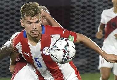 Gastón Giménez fue el autor del único gol del partido. Foto: AFP