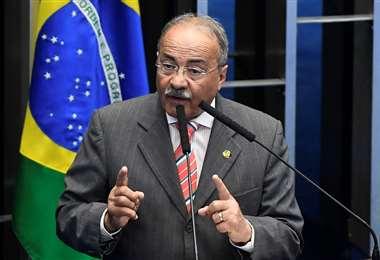 El senador Chico Rodrigues en febrero de este año. Foto AFP