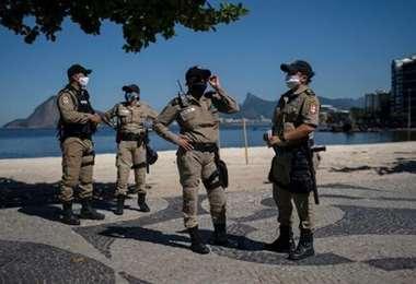 Foto ilustrativa de policías en Río de Janeiro. Internet