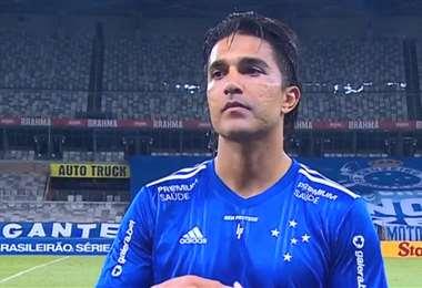 Marcelo Martins, delantero del Cruzeiro. Foto: Captura video
