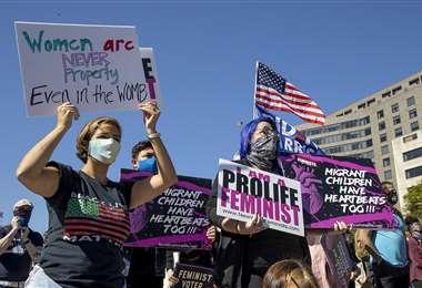 La marcha de las mujeres en Washington. Foto AFP