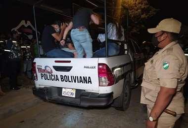 Algunos de los arrestados
