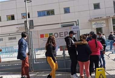 En Barcelona hubo largas filas para votar (Foto: María Arteaga)
