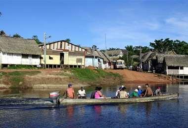 Puerto Rico, Pando, a orillas del río Orthon, donde ya se está desarrollando la elección