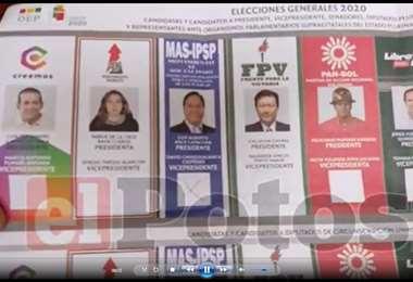 La papeleta electoral fue anulada