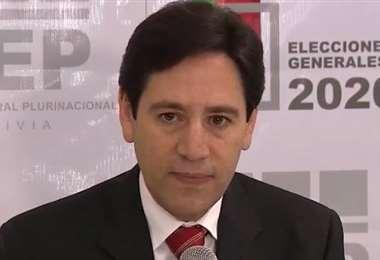 Salvador Romero, presidente del TSE | Foto: Bolivia TV
