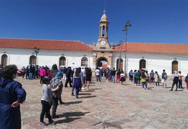 Jornada de votación en Sucre. Foto. William Zolá