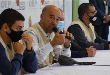 Conferencia de prensa de la misión de Mercosur (Foto: APG Noticias)