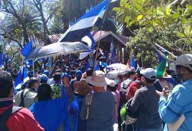 Festejo del MAS en Tarija/Foto: David Maygua
