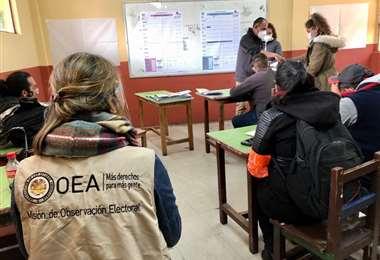 La misión de observación de la OEA I Twitter.