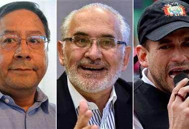 Los tres candidatos I archivo.
