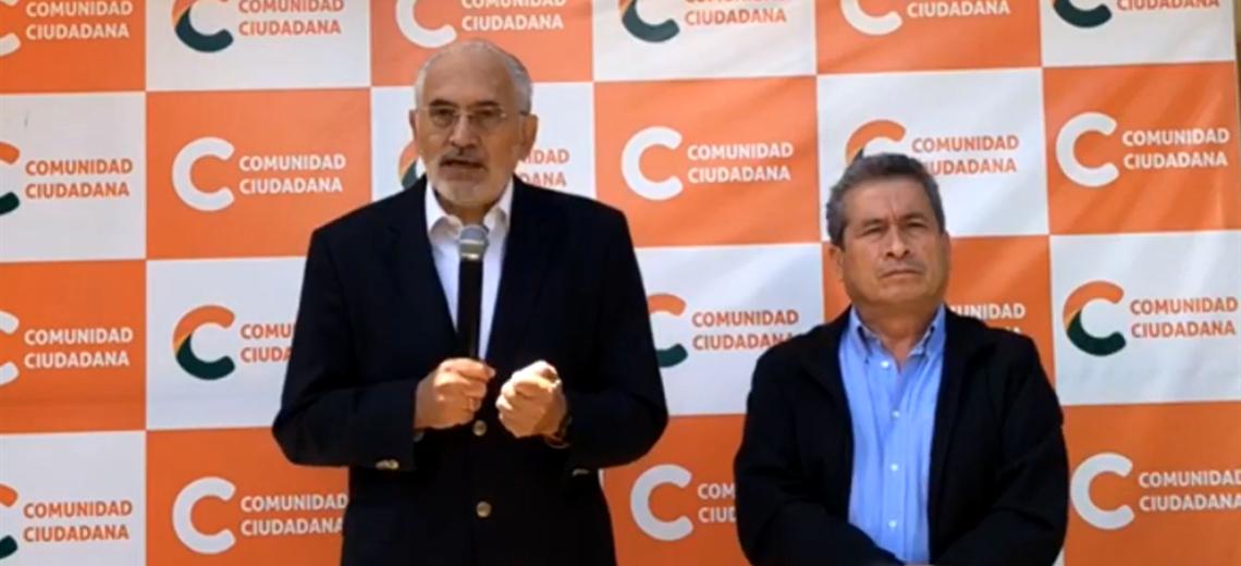 Carlos Mesa y Gustavo Pedraza le hablaron al país. Foto. Captura de pantala