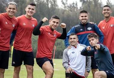 Los jugadores de Wilstermann están optimistas. Foto: Club Wilstermann
