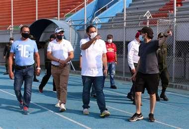 Chávez en su visita al Capriles. Foto: Viceministerio de Desportes