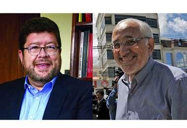 Doria Medina y Carlos Mesa