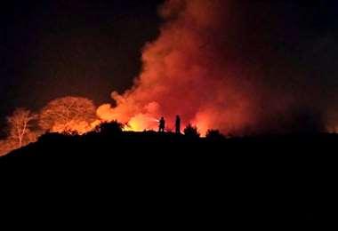 Incendio en Sararenda   Foto: Ludim Robles
