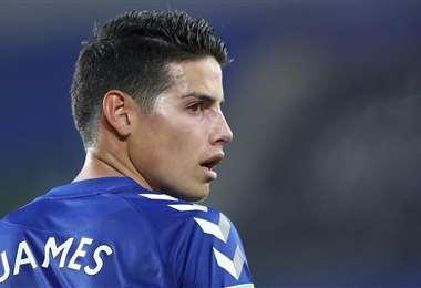 James Rodríguez milita en el Everton. Foto: AFP