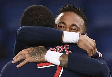Neymar celebrando el segundo gol del partido. Foto: AFP