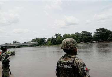 Soldados desplegados en la frontera con Guatemala. Foto Internet