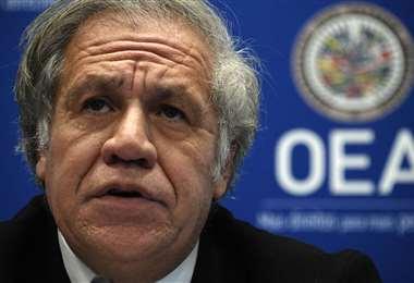 El secretario general de la OEA. Foto AFP