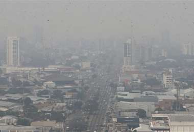 Así se vio la ciudad en días pasados. Foto: Fuad Landívar