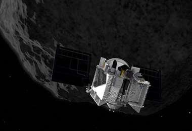 Osiris topeteó al asteroide. Foto Internet