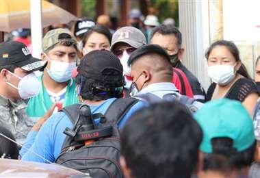 En muchas zonas de la ciudad se han visto aglomeraciones. Foto: Jorge Gutiérrez
