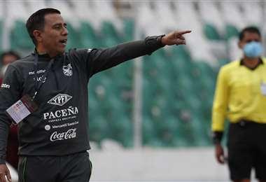 César Farías, DT de la selección boliviana. Foto: AFP