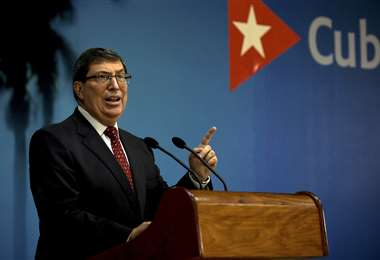 Bruno Rodríguez acusa a Estados Unidos. Foto AFP