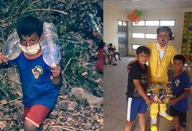 Foto: (iz) de Pablo Ponce y (dr) de vecinos barrio El Paraíso
