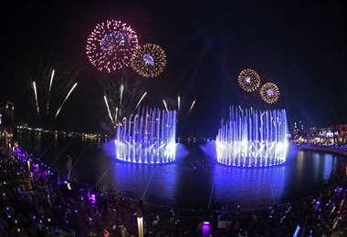 Un espectáculo inolvidable. Foto AFP