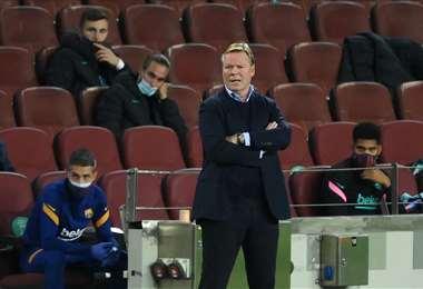 Ronald Koeman, entrenador del Barcelona. Foto: AFP