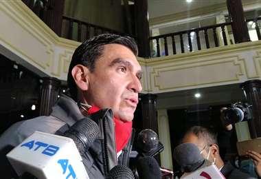 Leyes respetará el fallo de la justicia en Cochabamba. Foto Humberto Aillón