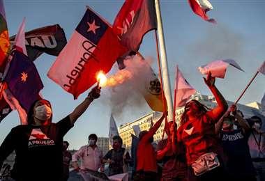 Manifestación a favor de la reforma constitucional. Foto AFP