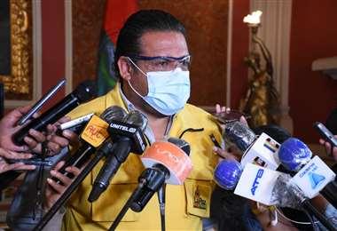 El alcalde de La Paz, Luis Revilla. GAMLP