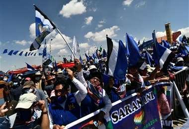 Festejo del MAS en El Alto/Foto: APG