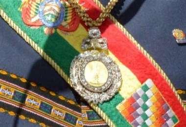 La medalla presidencial.