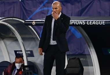 Zinedine Zidane, entrenador de Real Madrid. Foto: AFP
