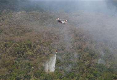 Sobrevuelo en Guarayos. Foto: Jorge Ibáñez